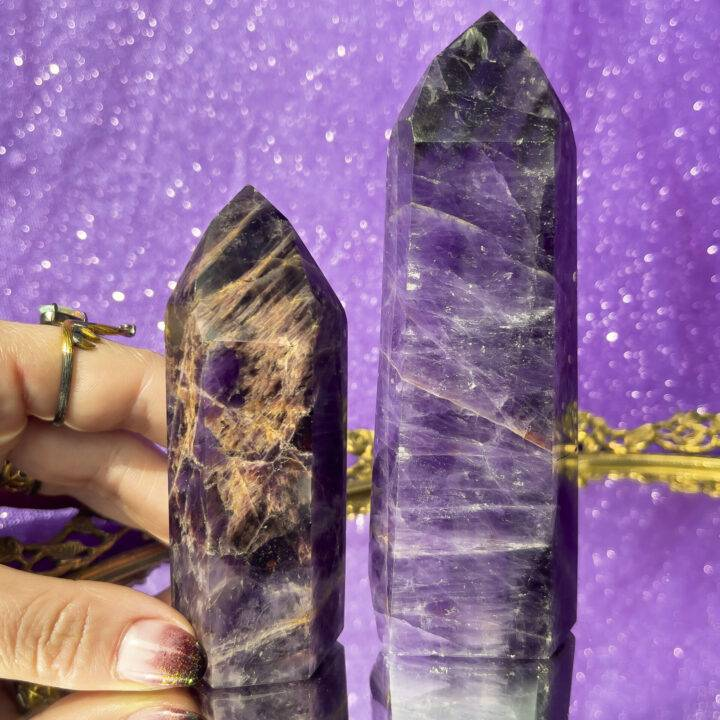 Amethyst with Cacoxenite Generator