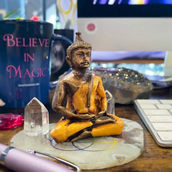 Desktop and Altar Buddha