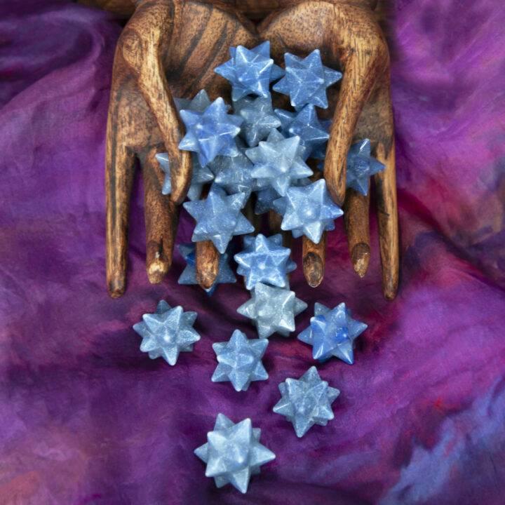 Dumortierite 12-Pointed Mudra Meditation Star