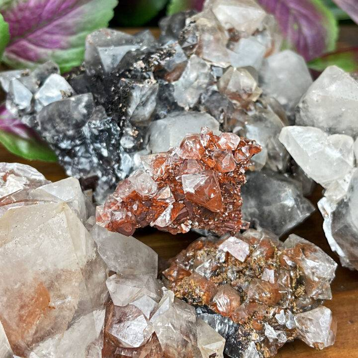 Face Your Fears Calcite Cluster