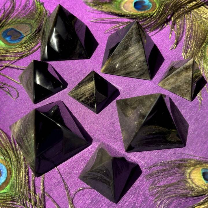 Golden Sheen Obsidian Shadow Transmutation Pyramid