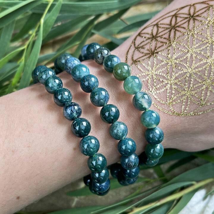 Gaias Healing Evergreen Jasper Bracelet
