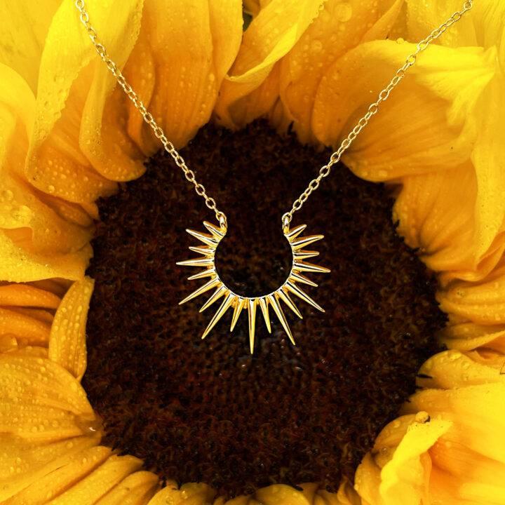 Golden Sun Star Necklace