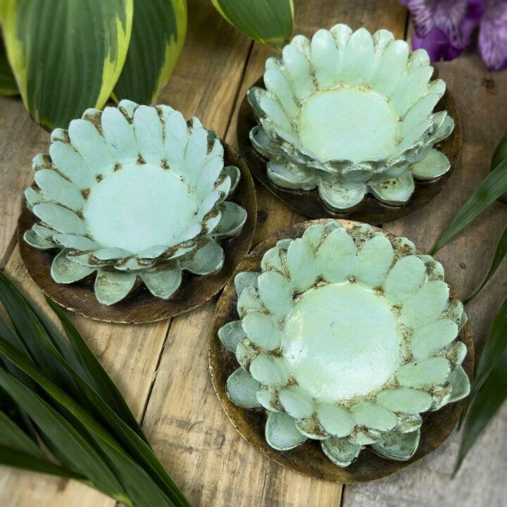 Hand Painted Lotus Flower Bowl