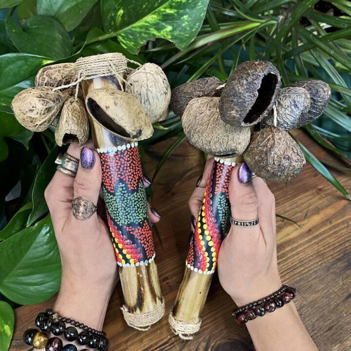 Handmade Balinese Seed Rattle
