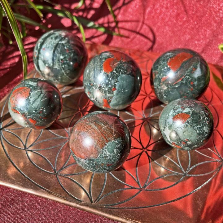 Healing African Bloodstone Sphere