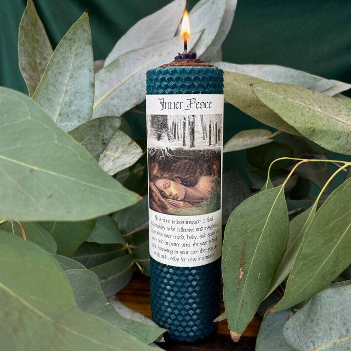 Inner Peace Beeswax Intention Candle