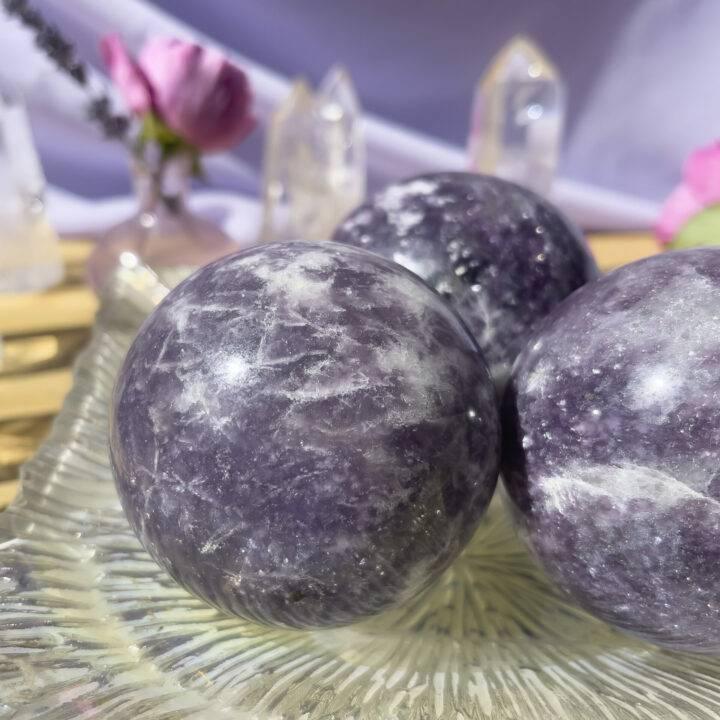 Lepidolite Serenity Sphere