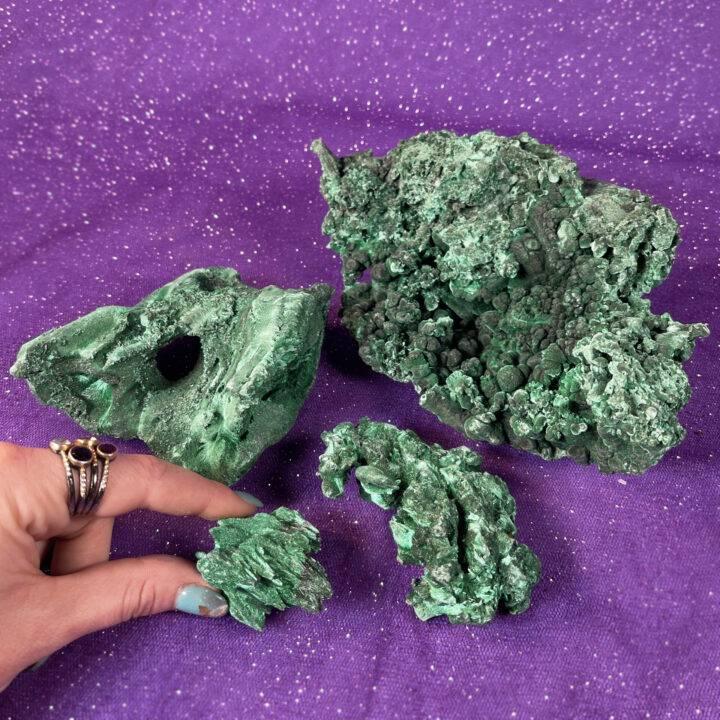 Natural Velvet Fibrous Malachite