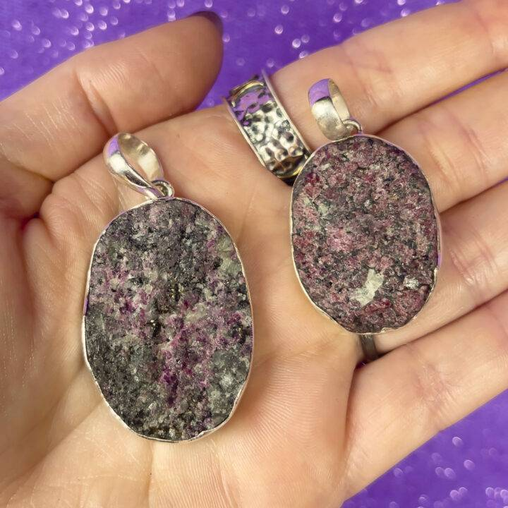 Natural Eudialyte Sterling Silver Pendant