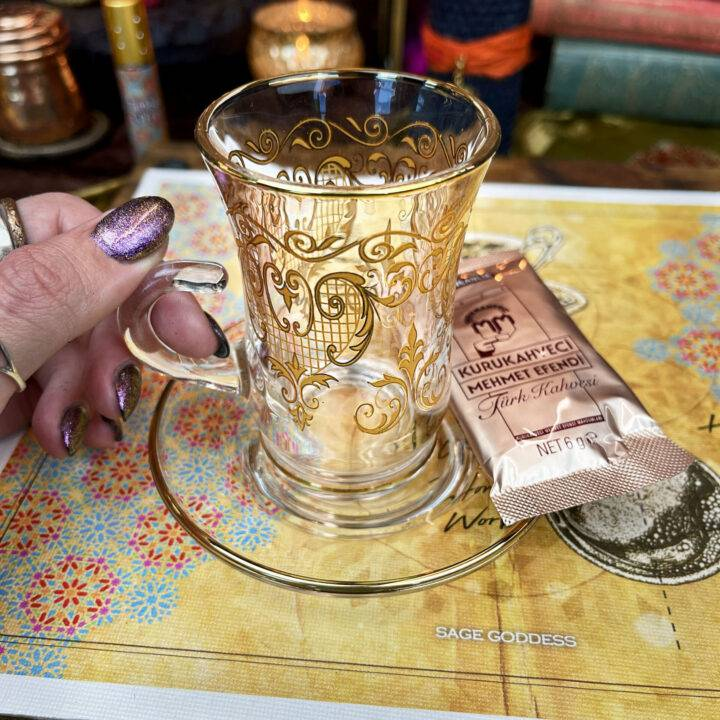 New Moon Divination Magic: Turkish Coffee Reading Set