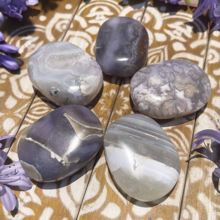 Peace and Protection Agate Palm Stone