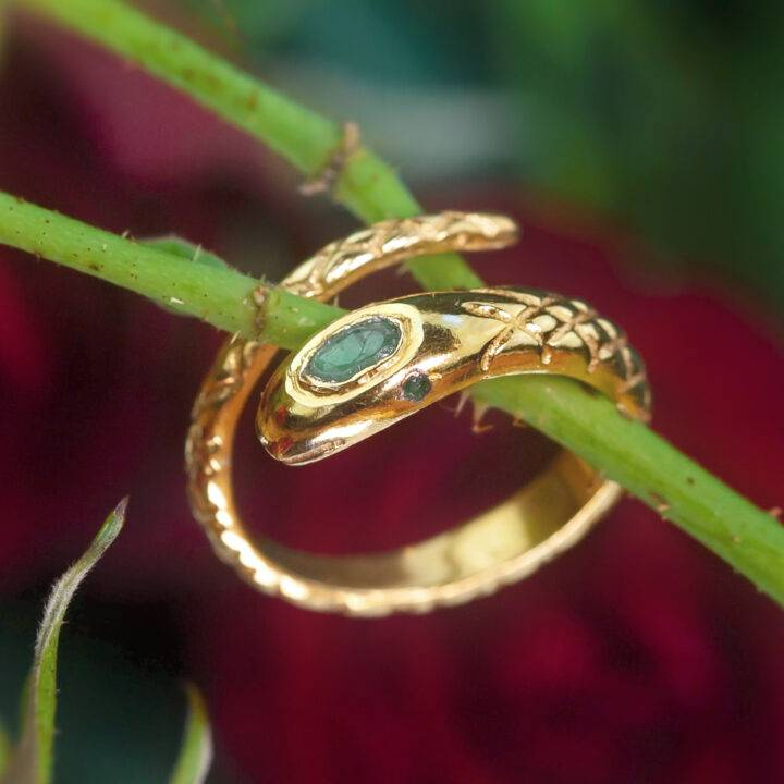 Personal Power Emerald Snake Ring