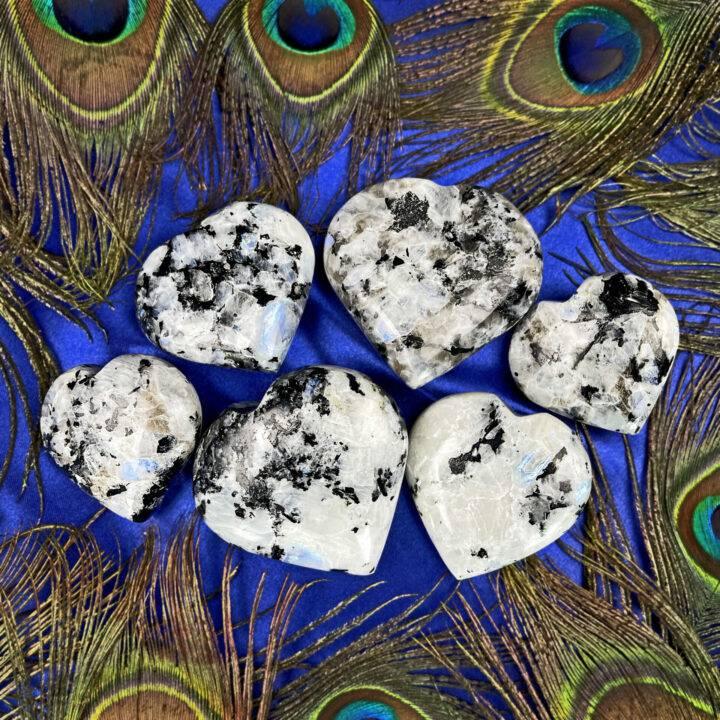 Rainbow Moonstone Magic Heart