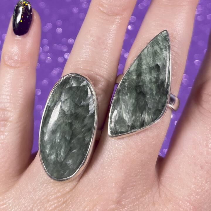 Seraphinite Adjustable Ring