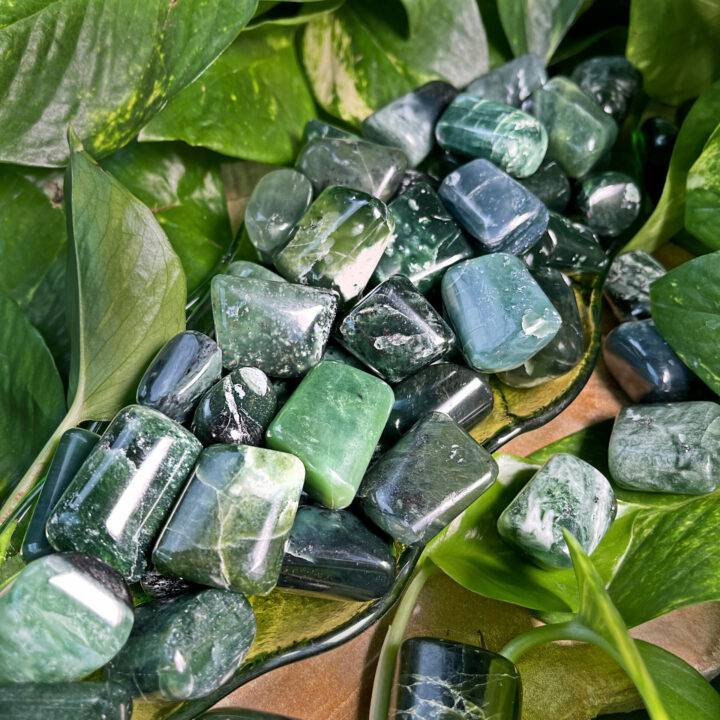 Tumbled Green Kyanite