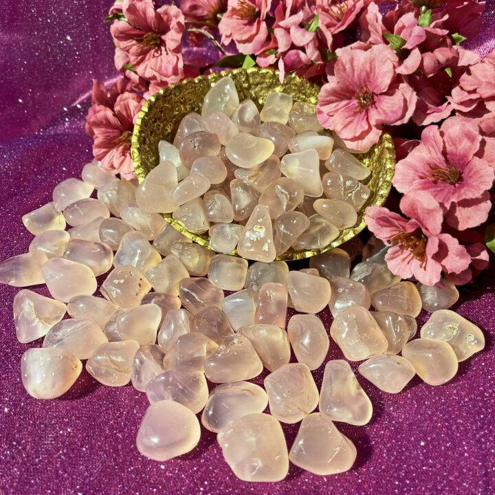 Tumbled Pink Chalcedony