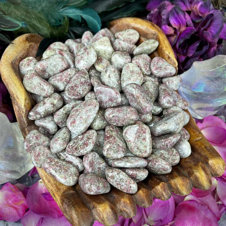 Tumbled Pink Tourmaline in Quartz