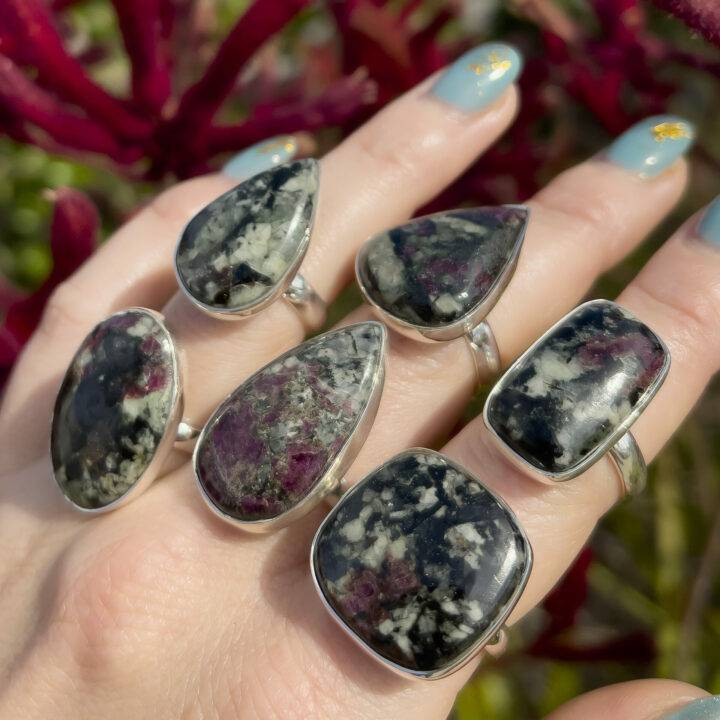 Wise Healer Eudialyte Ring
