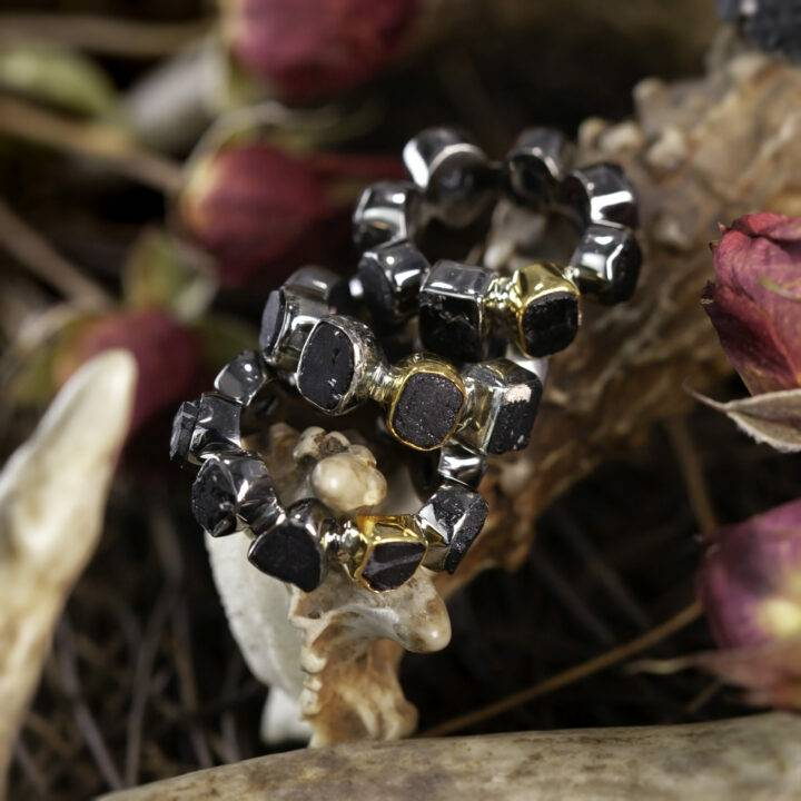 Black Tourmaline Pan Protection Ring