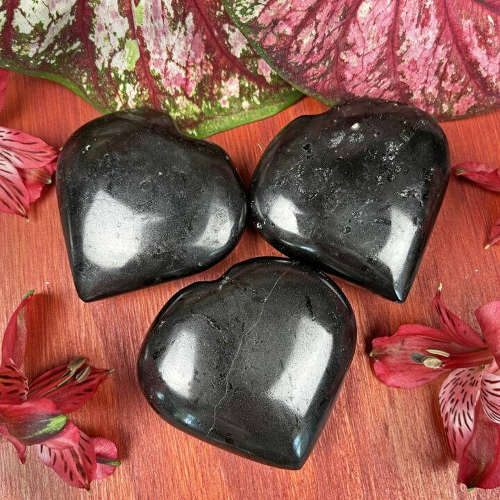 Black Tourmaline Protective Heart