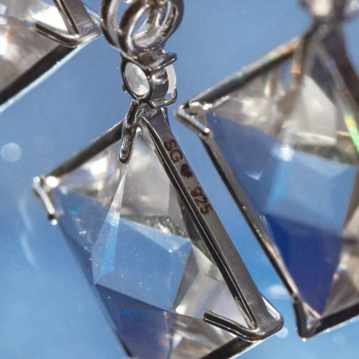 Clear Quartz Magician Pendant with Rainbow Moonstone