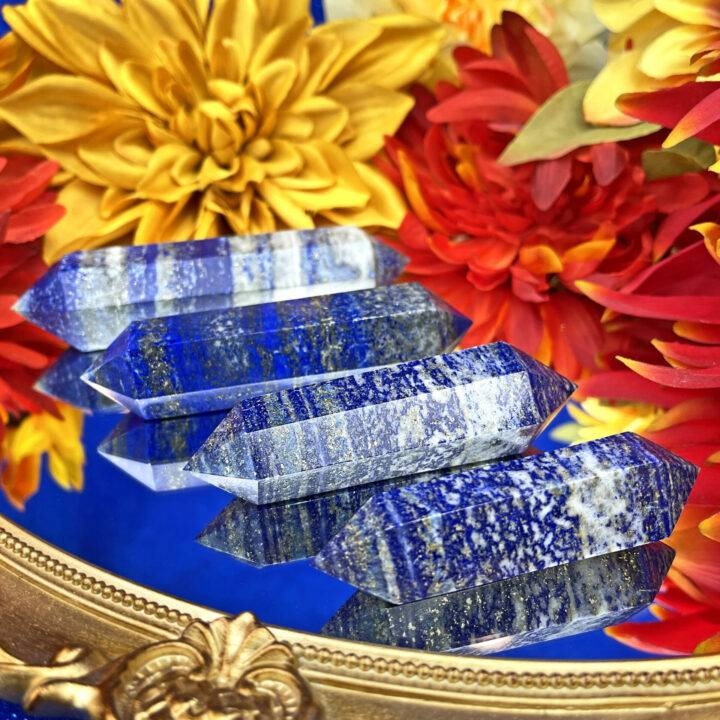 Double Terminated Lapis Lazuli Queen's Wand