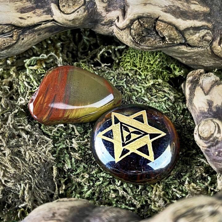 Earth Star Chakra Mini BeeBop and Gemstone Duo