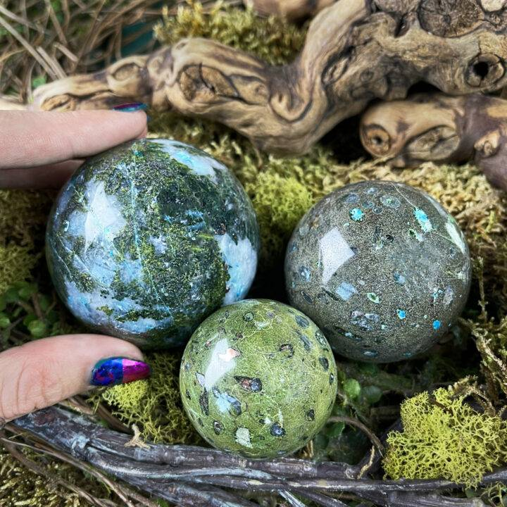 Emotional Healing Compassion Stone Sphere
