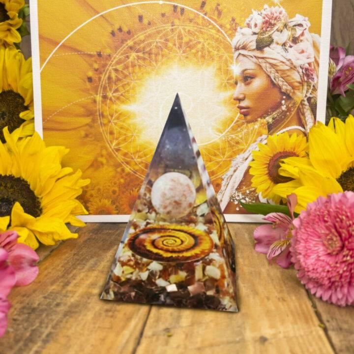 Fibonacci Sunflower Orgone Pyramid