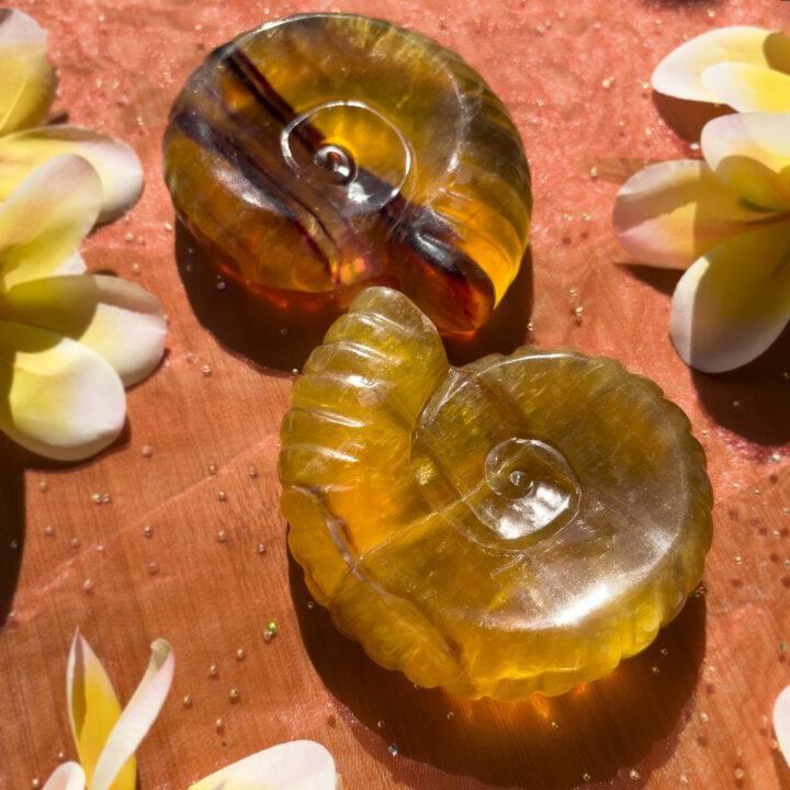 Fibonacci Yellow Fluorite Manifestation Bowl