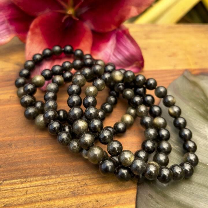 Golden Sheen Obsidian Shadow Integration Bracelet
