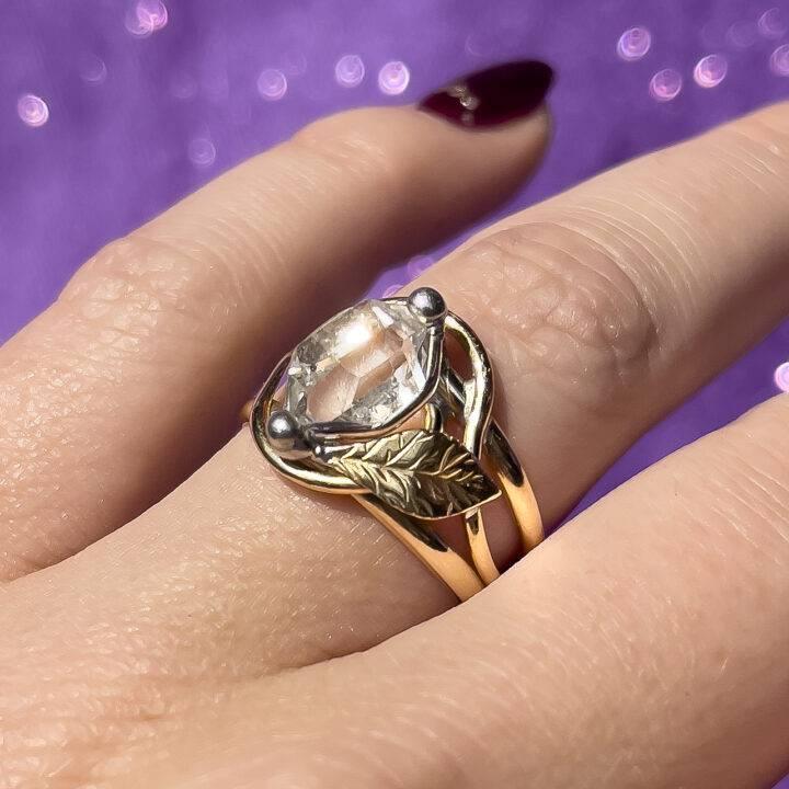 Herkimer Diamond Magic Ring