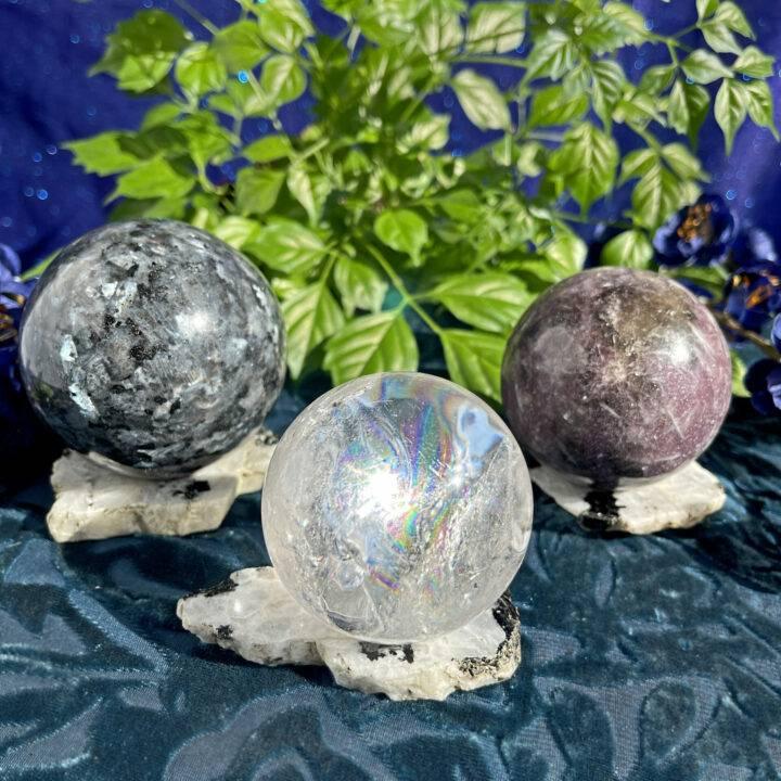 Higher Purpose Moonstone Sphere Stand