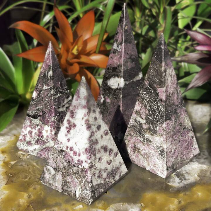 Life Force Spinel in Biotite Pyramid