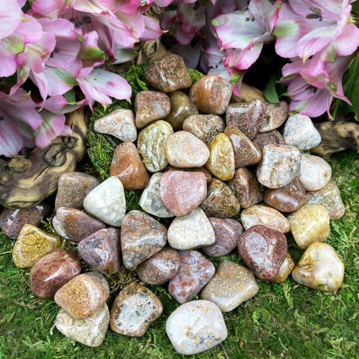 Medium Tumbled Pink Moss Agate