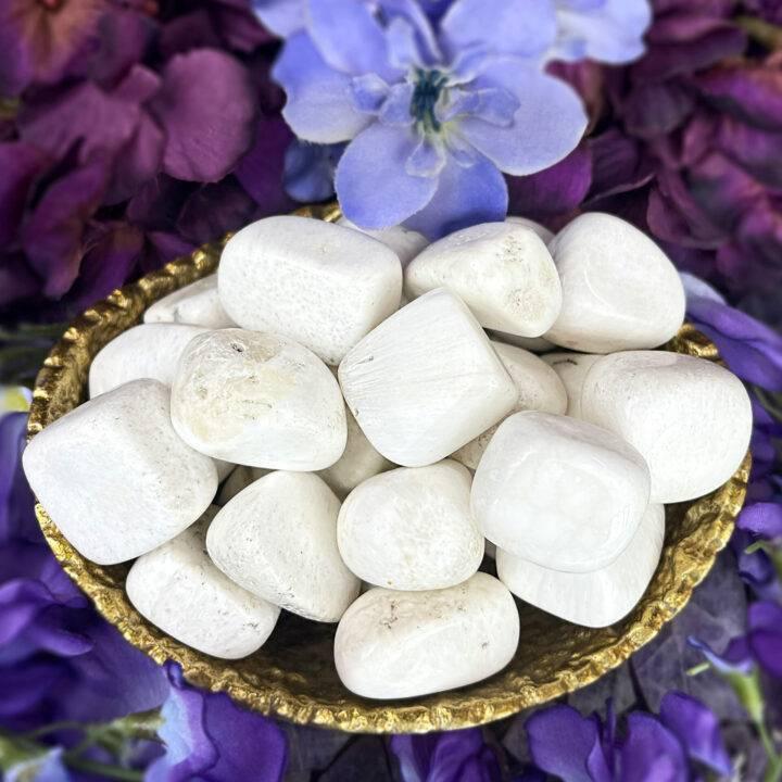 Medium Tumbled Scolecite