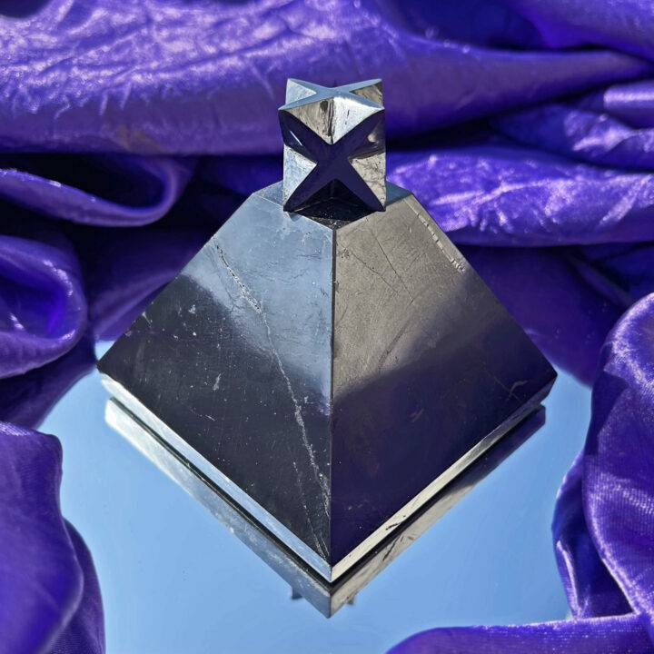 Metatrons Purify and Ascend Shungite Merkaba Pyramid