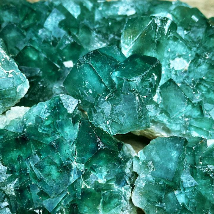 Natural Cubic Green Fluorite