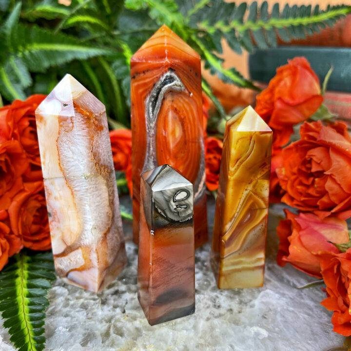 Passion and Power Carnelian Obelisk