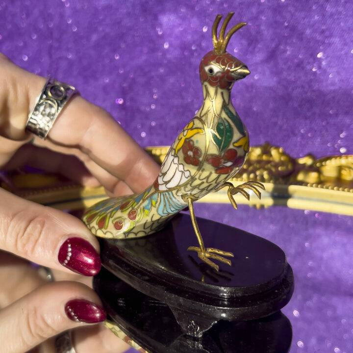 Peacock Ornament (Cloisonné)