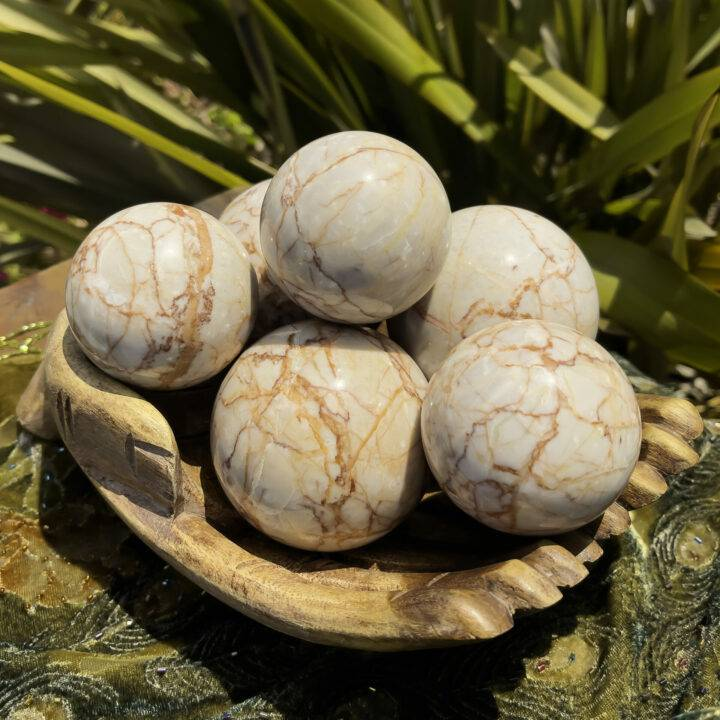 Red Vein Jasper Strength and Courage Sphere