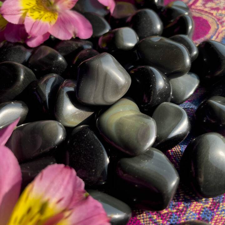 Small Tumbled Rainbow Obsidian