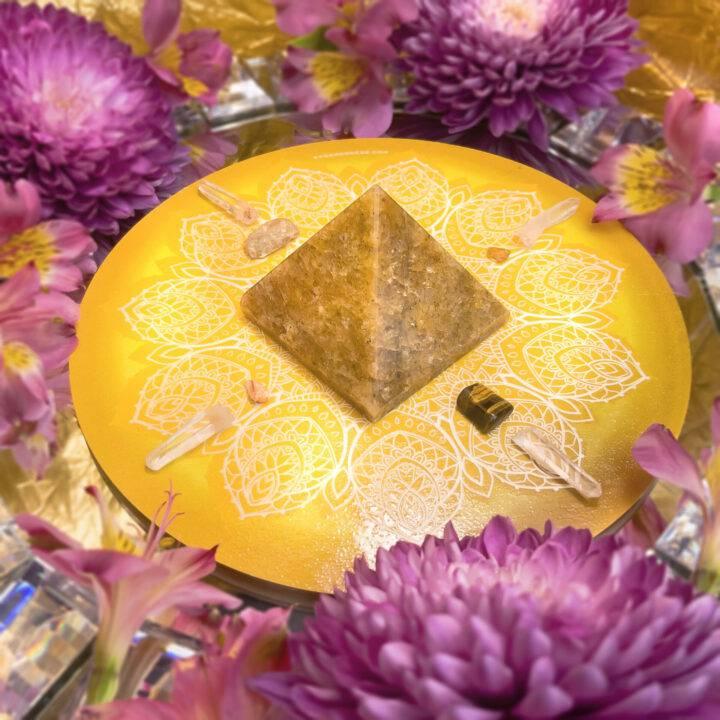 Solar Plexus Self-Empowerment Crystal Grid