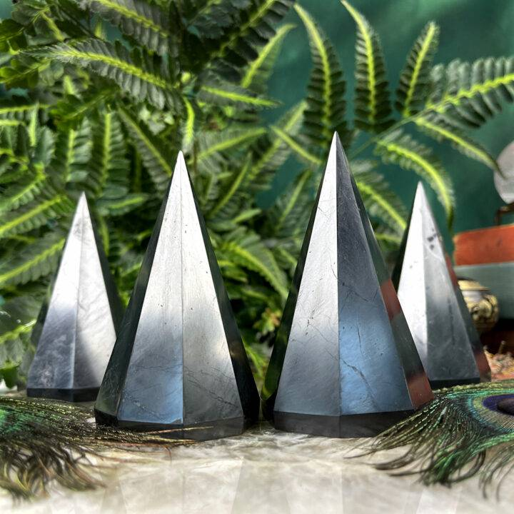 Shungite Octahedral Pyramid of Purification