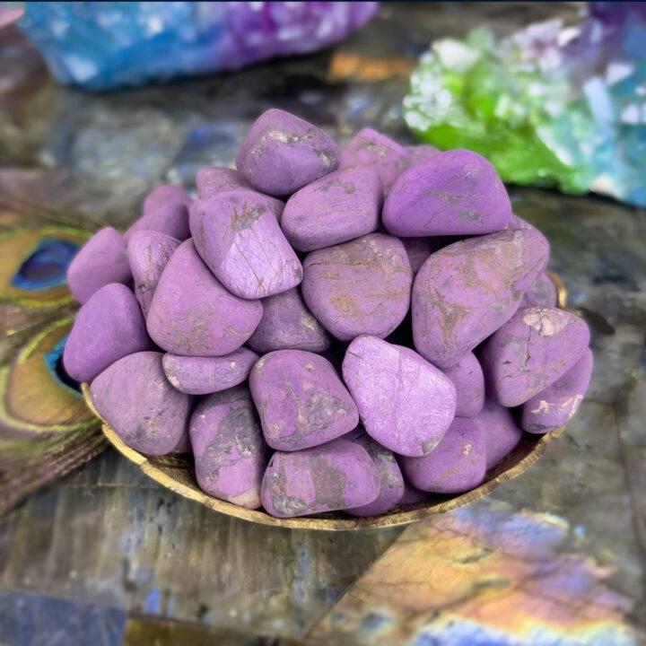 Tumbled Purpurite