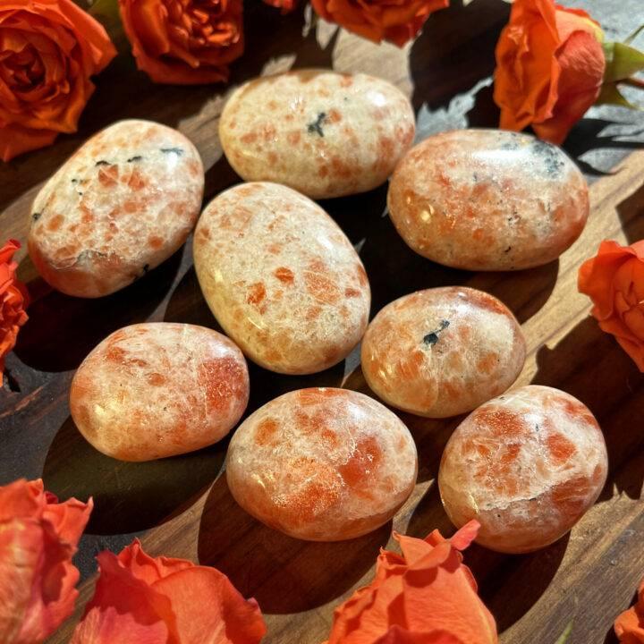 Take the Lead Sunstone Palm Stone