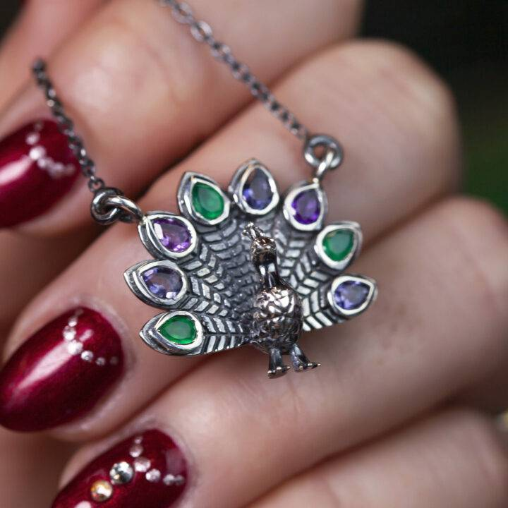 Wise and True Peacock Pendant