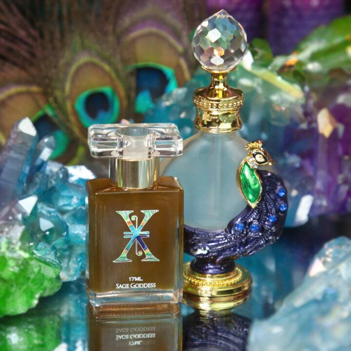 Limited Edition X Anniversary Perfume with Peacock Perfume Bottle