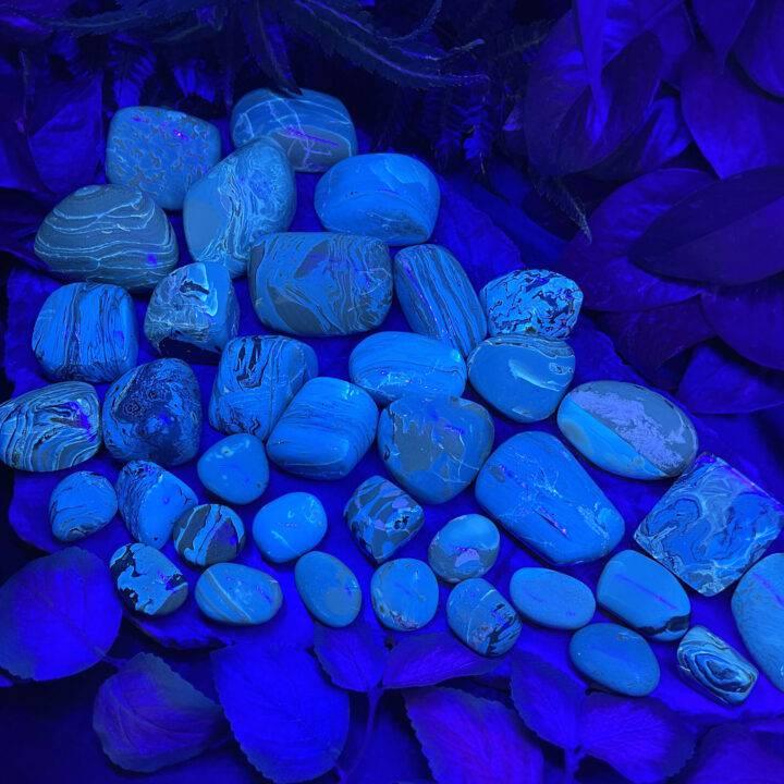 AAA-Grade Polished Blue Amber